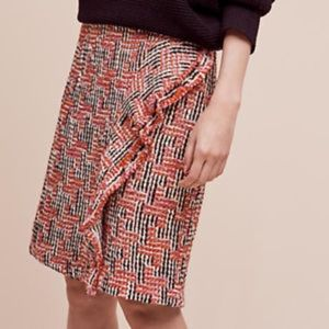🎉SALE🎉 Anthropologie Tweed Fringe Skirt